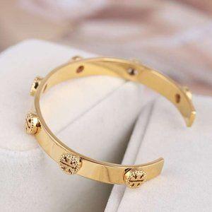 Tory Burch 18k Gold-Plated Openwork Bracelet